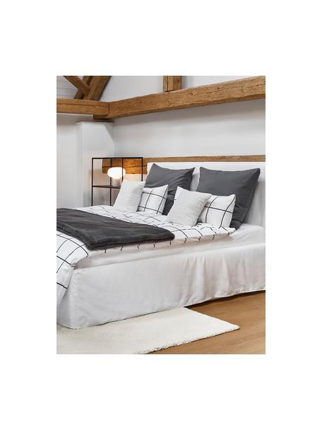 Perkal dekbedovertrek Juna, Weeftechniek: perkal Draaddichtheid 180, Wit, zwart, 140 x 200 cm