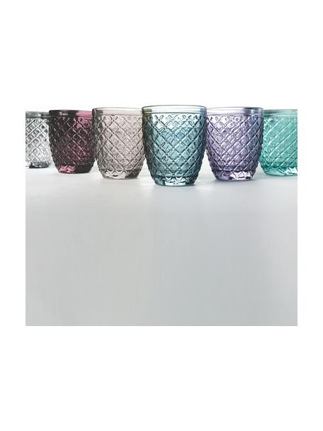 Set de vasos Rombi, 6uds., Vidrio, Multicolor, Ø 8 x Al 10 cm