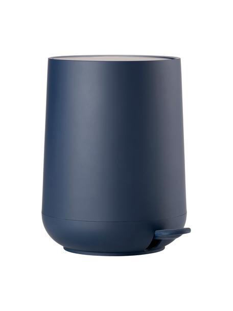 Pattumiera con coperchio softmotion Nova, Materiale sintetico ABS, Blu, Ø 23 x A 29 cm