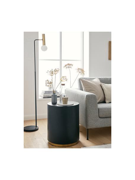 Okrągły stolik pomocniczy Clarice, Korpus: płyta pilśniowa średniej , Noga: metal powlekany, Czarny, Ø 40 x W 50 cm
