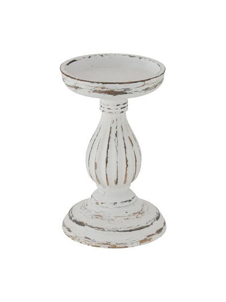 Candelabro Dinah, Pannelli di fibra a media densità (MDF), rivestito, Bianco latteo, marrone, Ø 11 cm