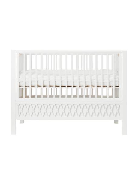 Babybed Harlequin, Gecoat hout, Wit, 72 x 132 cm