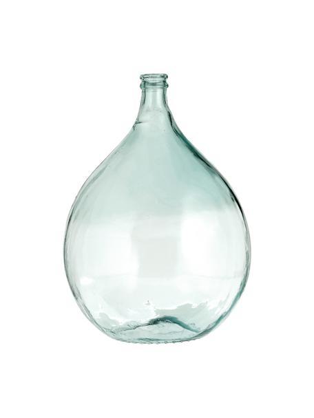 Jarrón de suelo de vidrio reciclado Drop, Vidrio reciclado, Azul claro, Ø 40 x Al 56 cm