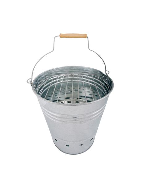 Barbecue emmer Brett, Zinkkleurig, Ø 31 x H 34 cm