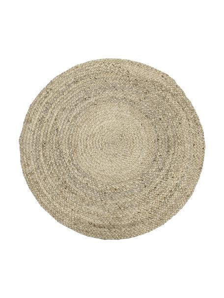 Tappeto rotondo in juta tessuto a mano Sharmila, 100% juta, Beige, Ø 100 cm (taglia XS)