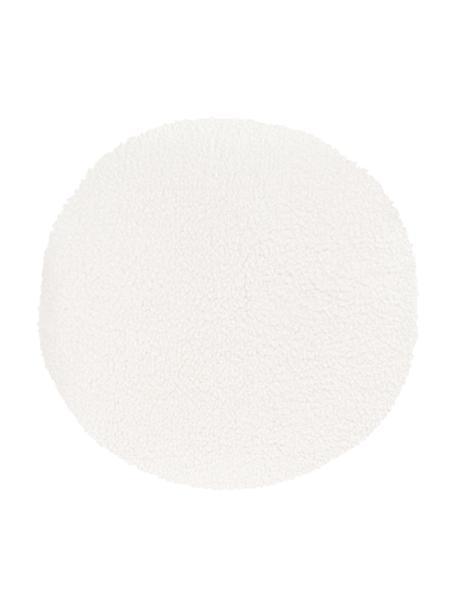 Runde Teddy-Sitzauflage Mille, Vorderseite: 100% Polyester (Teddyfell, Rückseite: 100% Polyester, Creme, Ø 37 cm
