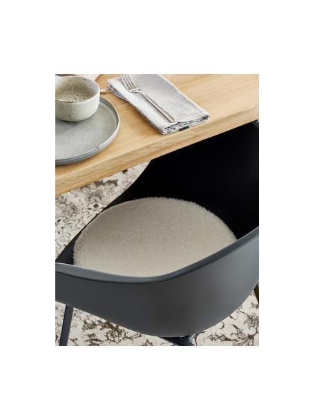 Cuscino sedia in tessuto teddy Mille, Retro: 100% poliestere, Crema, Ø 37 cm
