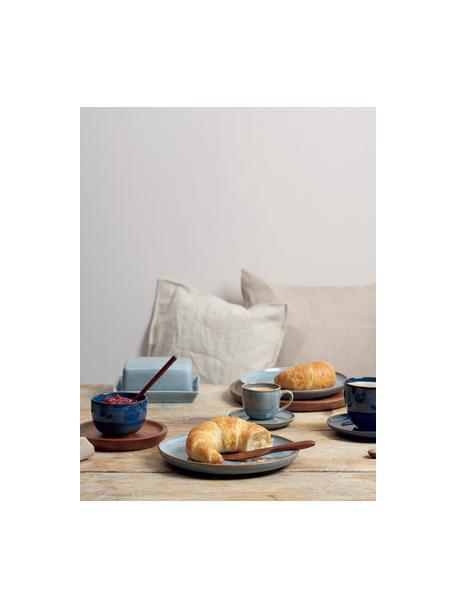 Mantequillera de gres Saisons, Gres, Azul, An 17 x Al 7 cm