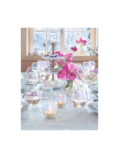 Bicchiere acqua in vetro soffiato con riflessi madreperlacei Pearl 4 pz, Vetro, Riflessi madreperlacei, Ø 9 x Alt. 10 cm