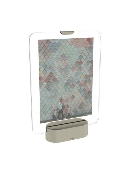 LED fotolijstje Glo, Nikkelkleurig, 13 x 18 cm