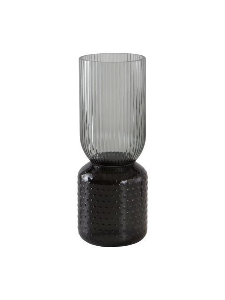 Glasvase Lex, Glas, Dunkelgrau, Ø 10 x H 25 cm