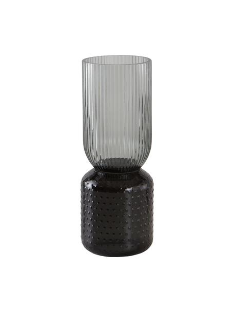 Vaso alto in vetro Lex, Vetro, Grigio scuro, Ø 10 x Alt. 25 cm