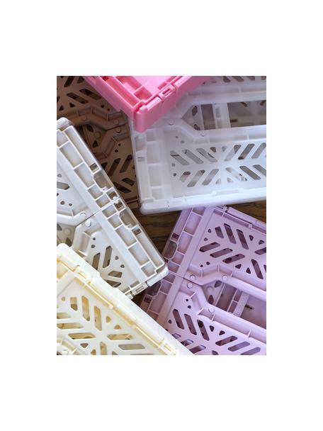 Caja plegable apilable Grey, mediana, Plástico reciclado, Gris, An 40 x Al 14 cm