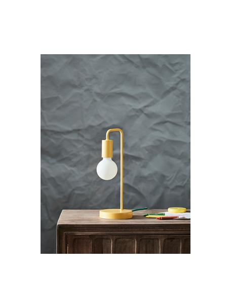 Tafellamp Cascais, Lampenkap: gecoat metaal, Geel, Ø 14 x H 35 cm