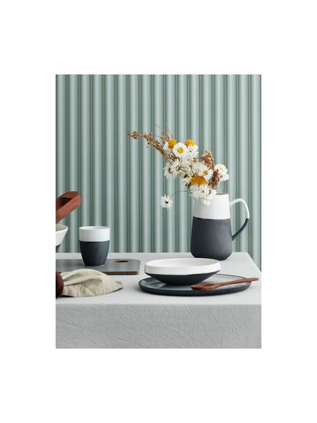 Handgemaakte bekers Esrum mat/glazend, 4 stuks, Bovenzijde: glad geglazuurde keramiek, Onderzijde: natuurlijke keramiek, Ivoorkleurig, grijsbruin, 250 ml