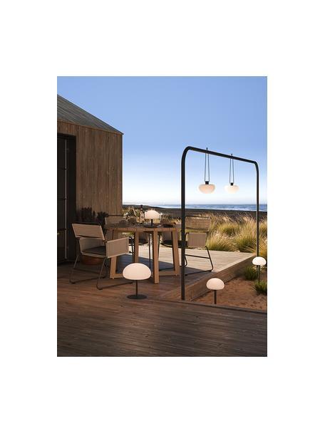 Mobiele dimbare hanglamp Sponge, Lampenkap: kunststof, Wit, zwart, Ø 20 x H 16 cm