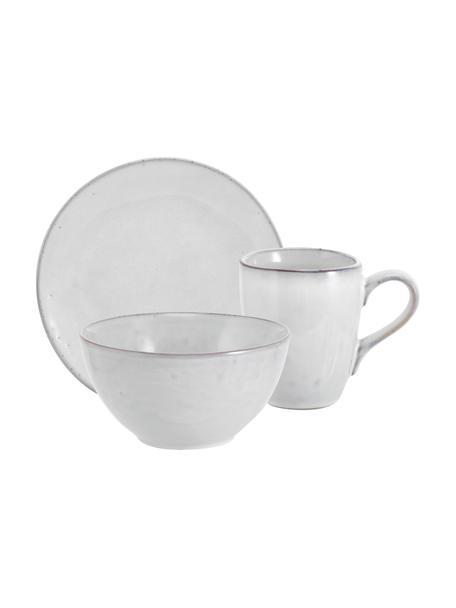 Handgemachtes Frühstücks-Set Nordic Sand aus Steingut, 4 Personen (12-tlg.), Steingut, Beige, Set mit verschiedenen Grössen