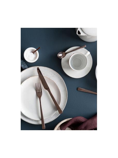 Handgemaakte ontbijtset Nordic Sand, 4 personen (12-delig), Keramiek, Beige, Set met verschillende formaten