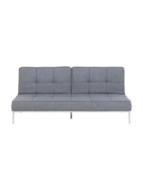 Sofá cama Perugia, plegable, Tapizado: poliéster Alta resistenci, Patas: metal pintado, Gris claro, An 198 x F 95 cm