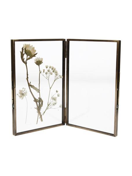 Fotolijstje Dried Flowers, Lijst: gecoat metaal, Schijven: transparant. Frame: koperkleurig, 10 x 15 cm