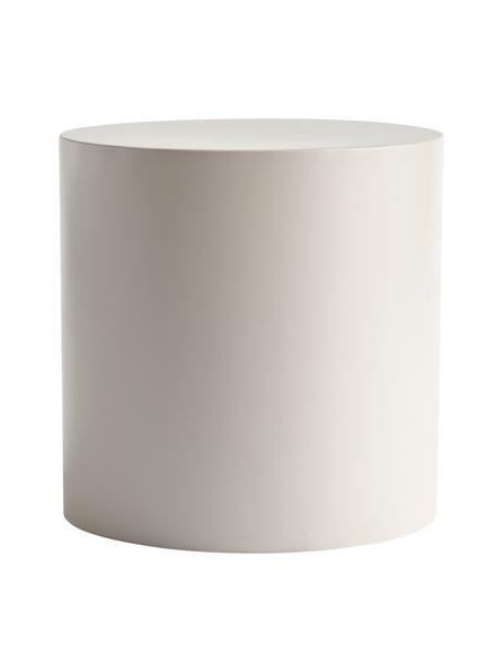 Mesa de centro redonda de metal Metdrum, Metal, Gris claro, Ø 40 x Al 40 cm