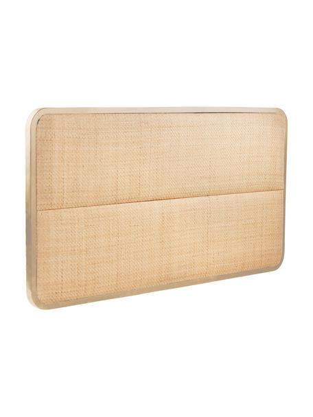 Zagłówek z rattanu Byrum, Drewno dębowe, drewno brzozowe, rattan, drewno warstwowe, Jasny brązowy, S 165 x W 85 cm