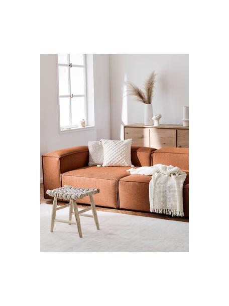 Modulares Sofa Lennon (4-Sitzer) in Terrakotta, Bezug: Polyester Der hochwertige, Gestell: Massives Kiefernholz, Spe, Webstoff Terrakotta, B 327 x T 119 cm