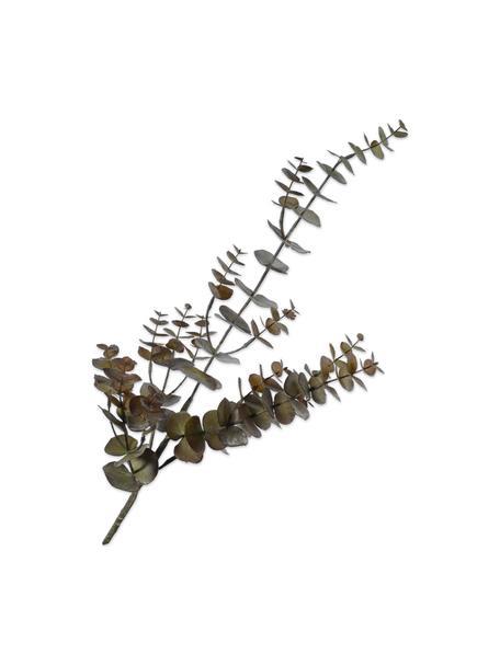 Kunst-Eukalyptuszweig, Braun, Kunststoff, Metalldraht, Braun, Grün, L 81 cm
