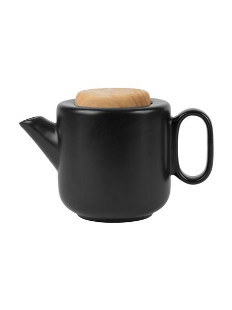 Teiera in gres con colino da tè e coperchio Baltika, 700 ml, Gres, bambù, acciaio inossidabile, Nero, 700 ml