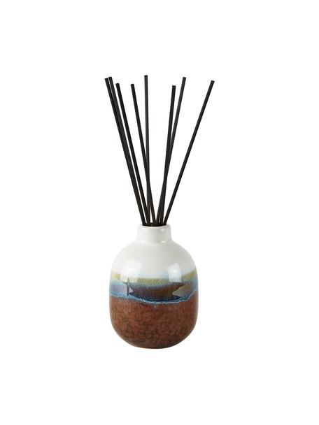 Ambientador Coconut Beach (coco), Recipiente: cerámica, Marrón, blanco, azul, Ø 7 x Al 10 cm