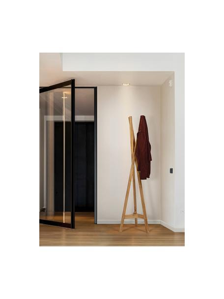 Kapstok Clift van eikenhout, Massief eikenhout, Eikenhoutkleurig, 35 x 175 cm