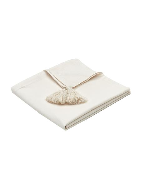 Tovaglia con nappe Benini, 85% cotone, 15% lino, Beige, Larg. 130 x Lung. 270 cm