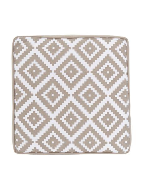 Cojín de asiento alto Miami, Funda: 100%algodón, Beige, An 40 x L 40 cm