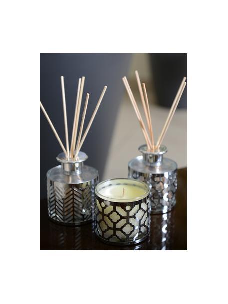 Duftkerze Helion (Vanille), Behälter: Glas, Metall, Vanille, Ø 8 x H 8 cm