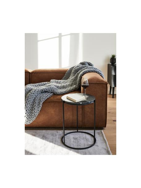 Coperta a maglia grossa fatta a mano Adyna, 100% poliacrilico, Grigio chiaro, Larg. 130 x Lung. 170 cm
