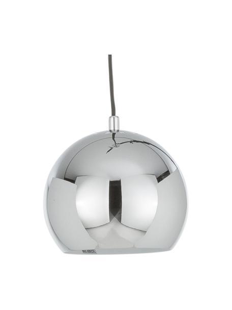 Kleine Kugel-Pendelleuchte Ball in Chromfarben, Lampenschirm: Metall, verchromt, Baldachin: Metall, verchromt, Metall, verchromt, Ø 18 x H 16 cm