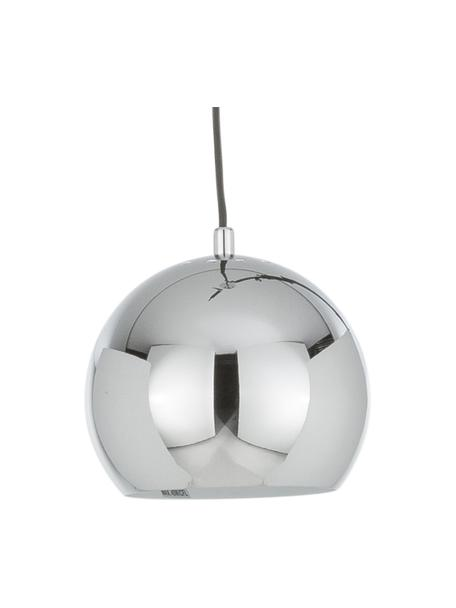 Lámpara de techo pequeña Ball, Pantalla: metal cromado, Anclaje: metal cromado, Cable: cubierto en tela, Metal, cromado, Ø 18 x Al 16 cm