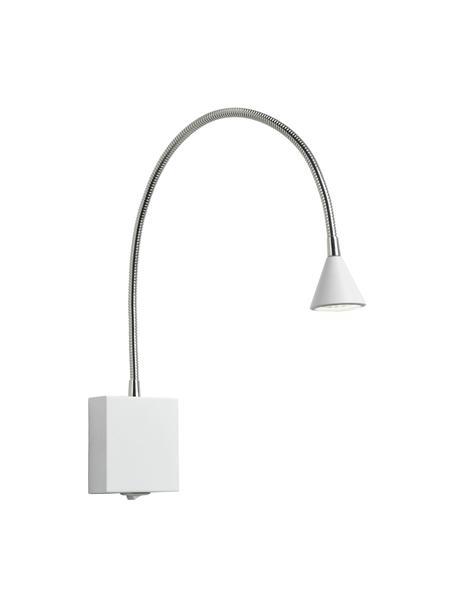Verstellbare LED-Wandleuchte Buddy, Lampenschirm: Metall, beschichtet, Weiß, 50 x 60 cm