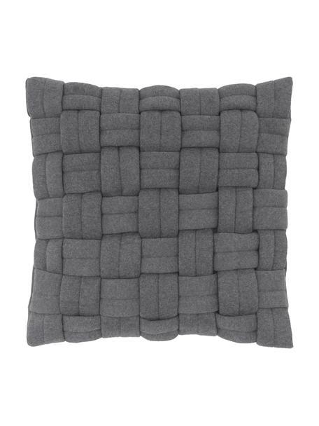 Poszewka na poduszkę Norman, Ciemny szary, S 40 x D 40 cm