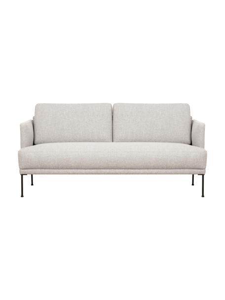 Sofa Fluente (2-Sitzer) in Beige mit Metall-Füssen, Bezug: 80% Polyester, 20% Ramie , Gestell: Massives Kiefernholz, Webstoff Beige, B 166 x T 85 cm