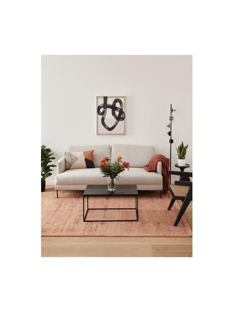 Sofa Fluente (2-Sitzer) in Beige mit Metall-Füßen, Bezug: 80% Polyester, 20% Ramie , Gestell: Massives Kiefernholz, Füße: Metall, pulverbeschichtet, Webstoff Beige, B 166 x T 85 cm