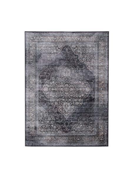 Tappeto vintage tonalità grigie Rugged, 66% viscosa, 25% cotone, 9% poliestere, Antracite, Larg. 170 x Lung. 240 cm (taglia M)