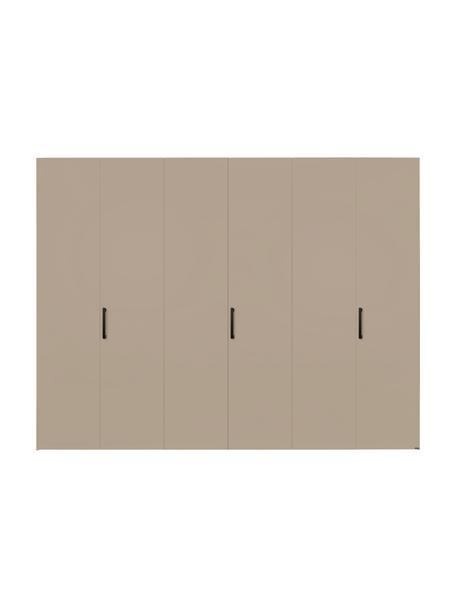 Kleiderschrank Madison 6-türig, inkl. Montageservice, Korpus: Holzwerkstoffplatten, lac, Sandfarben, Ohne Spiegeltür, 302 x 230 cm