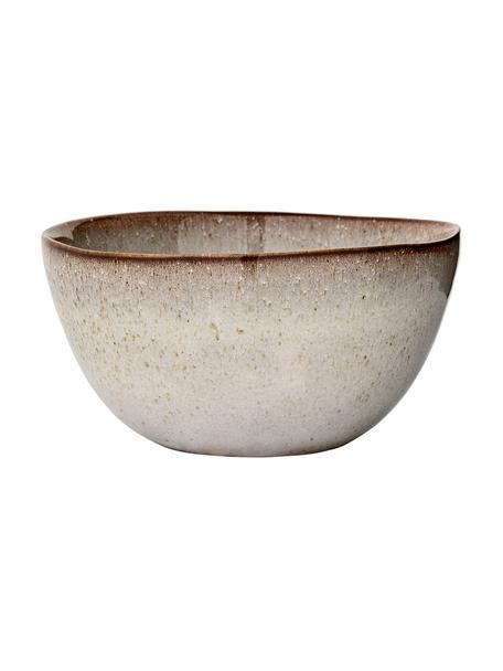 Ręcznie wykonana miska Sandrine, 6 szt., Kamionka, Jasny szary, Ø 15 x W 8 cm