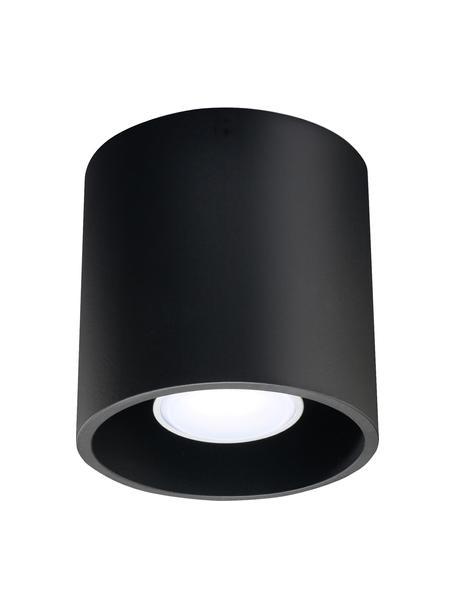 Foco Roda, Lámpara: aluminio recubierto, Negro, Ø 10 x Al 10 cm