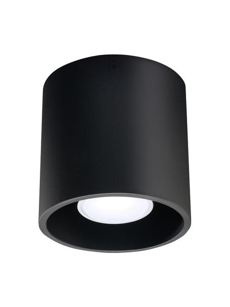 Plafondspot Roda in zwart, Lamp: gecoat aluminium, Zwart, Ø 10 x H 10 cm