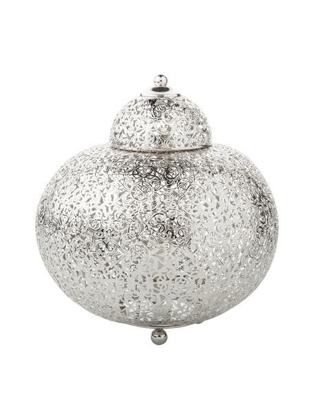 Kleine nachtlampje Marocco, Nikkel, Nikkelkleurig, Ø 26 x H 26 cm