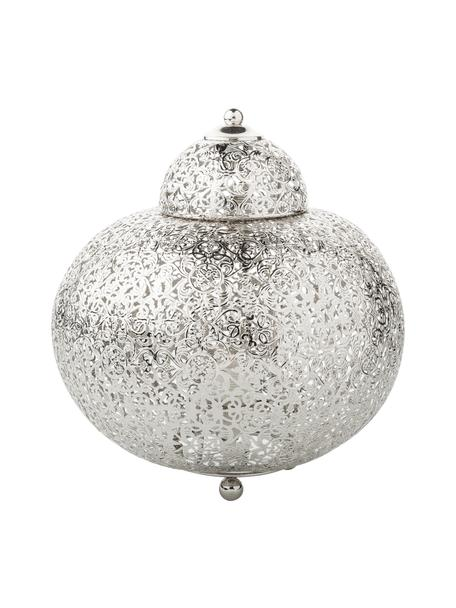 Nachtlampje Marocco in zilverkleur, Nikkel, Nikkelkleurig, Ø 26 x H 26 cm