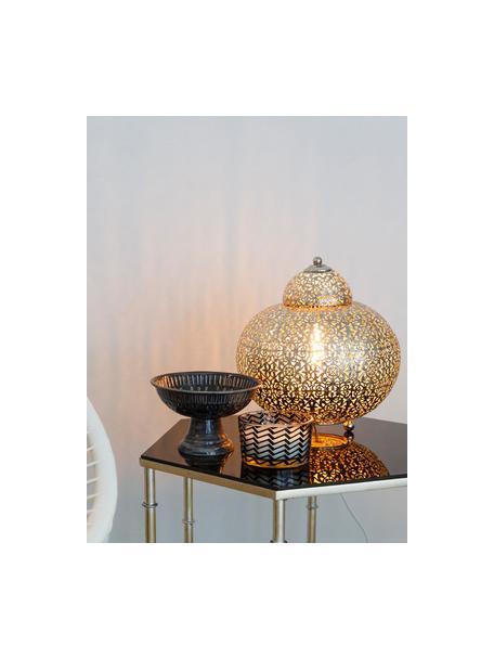 Lámpara de mesa pequeña Marocco, Lámpara: níquel, Plata, Ø 26 x Al 26 cm