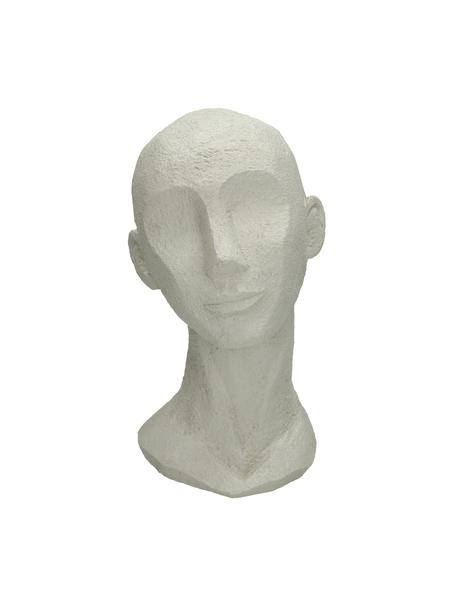 Oggetto decorativo Head, Poliresina, Bianco latteo, Larg. 18 x Alt. 28 cm